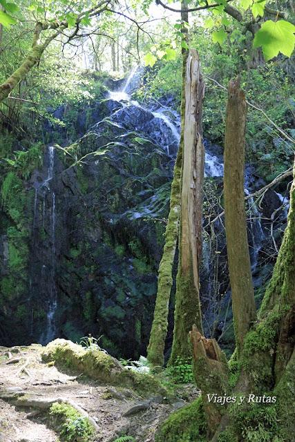 Cascada Salgueira, Ruta del Agua, Taramundi, Asturias
