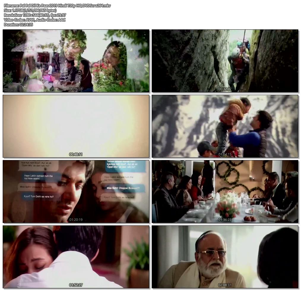 Pal Pal Dil Ke Paas 2019 Hindi 720p HQ DVDScr x264 | 480p 300MB | 100MB HEVC Screenshot