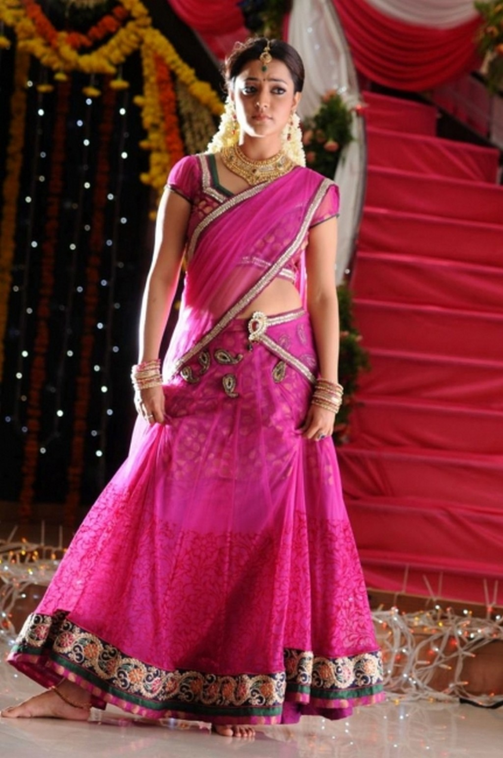 Nisha Agarwal navel in saree, Nisha Agarwal navel