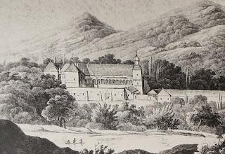 Zamek suski w 1. połowie XVIII wieku.
