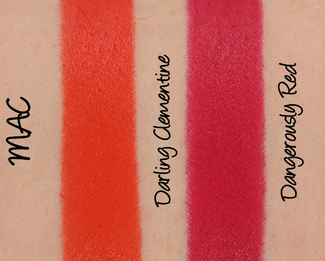 MAC MONDAY | Zac Posen - Darling Clementine and Dangerously Red Lipstick Swatches & Review
