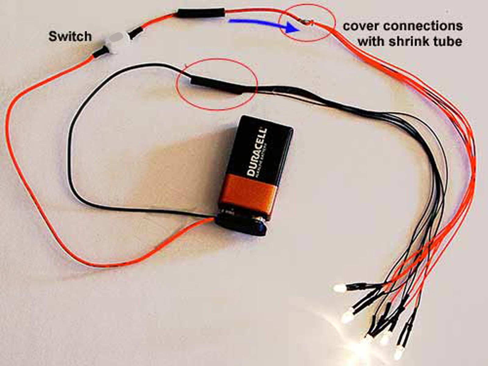 Led Wiring For Dollhouse Miniatures October 2012