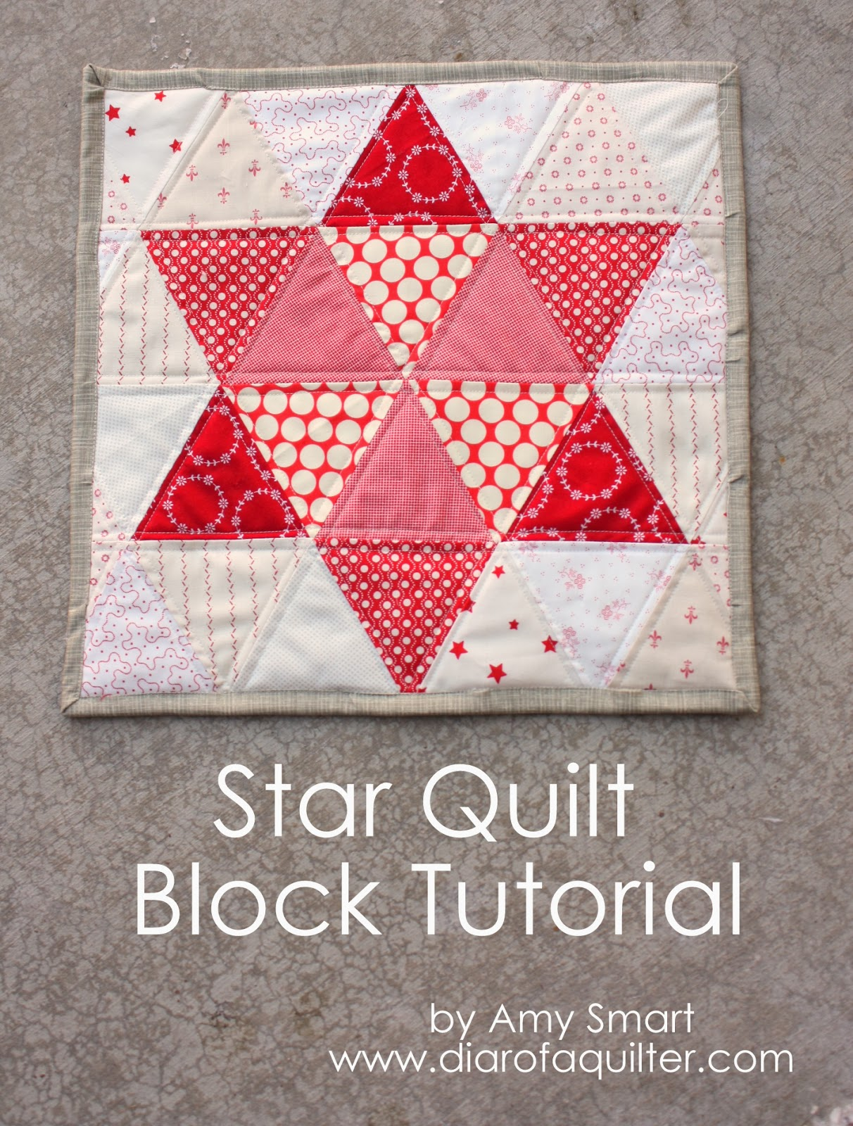 Triangle star quilt block tutorial - Diary of a Quilter - a quilt blog : simple star quilt pattern - Adamdwight.com