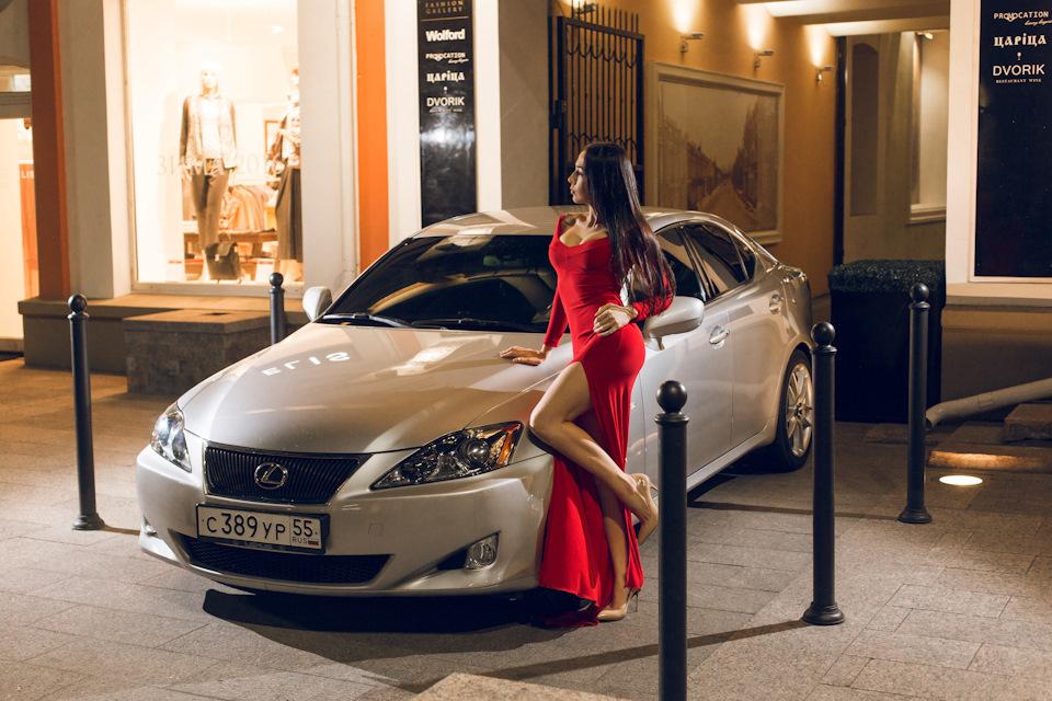 Lexus IS, kobieta i auto