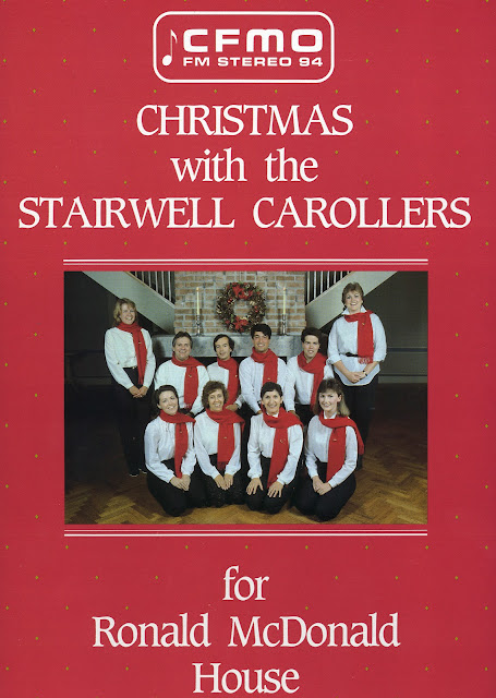 Stairwell Carollers 1986 vinyl record for Ronald McDonald House