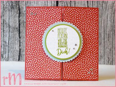 Stampin' Up! rosa Mädchen Kulmbach: Geburtstagskarte für die Chefin zum 50. mit Meilensteine, Perfekter Geburtstag und Pick a Pennant
