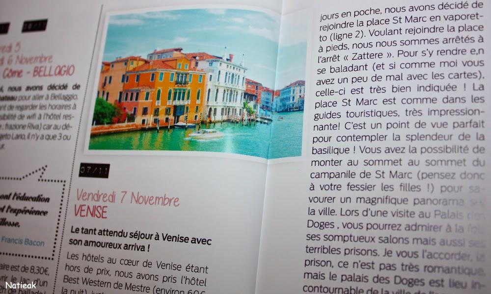 carnet de voyage Nos curieux voyageurs box Italie