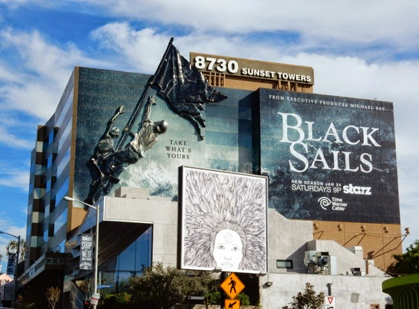 Starz 3D Black Sails season 2 billboard