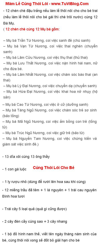 Le Vat Cung Thoi Loi Cho Be
