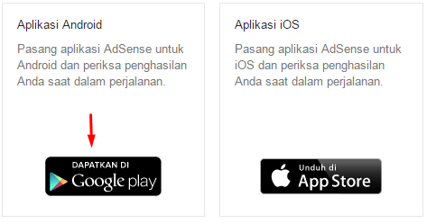 Google Adsense for Android and iOS