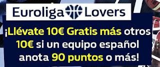 William Hill hasta 20 euros extra Euroliga 9-10 noviembre