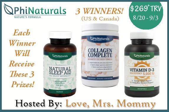 Phi Naturals Vitamin Giveaway