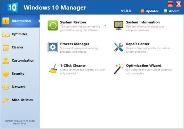Windows 10 Manager Terbaru 1.1.8 Full Keygen Terbaru