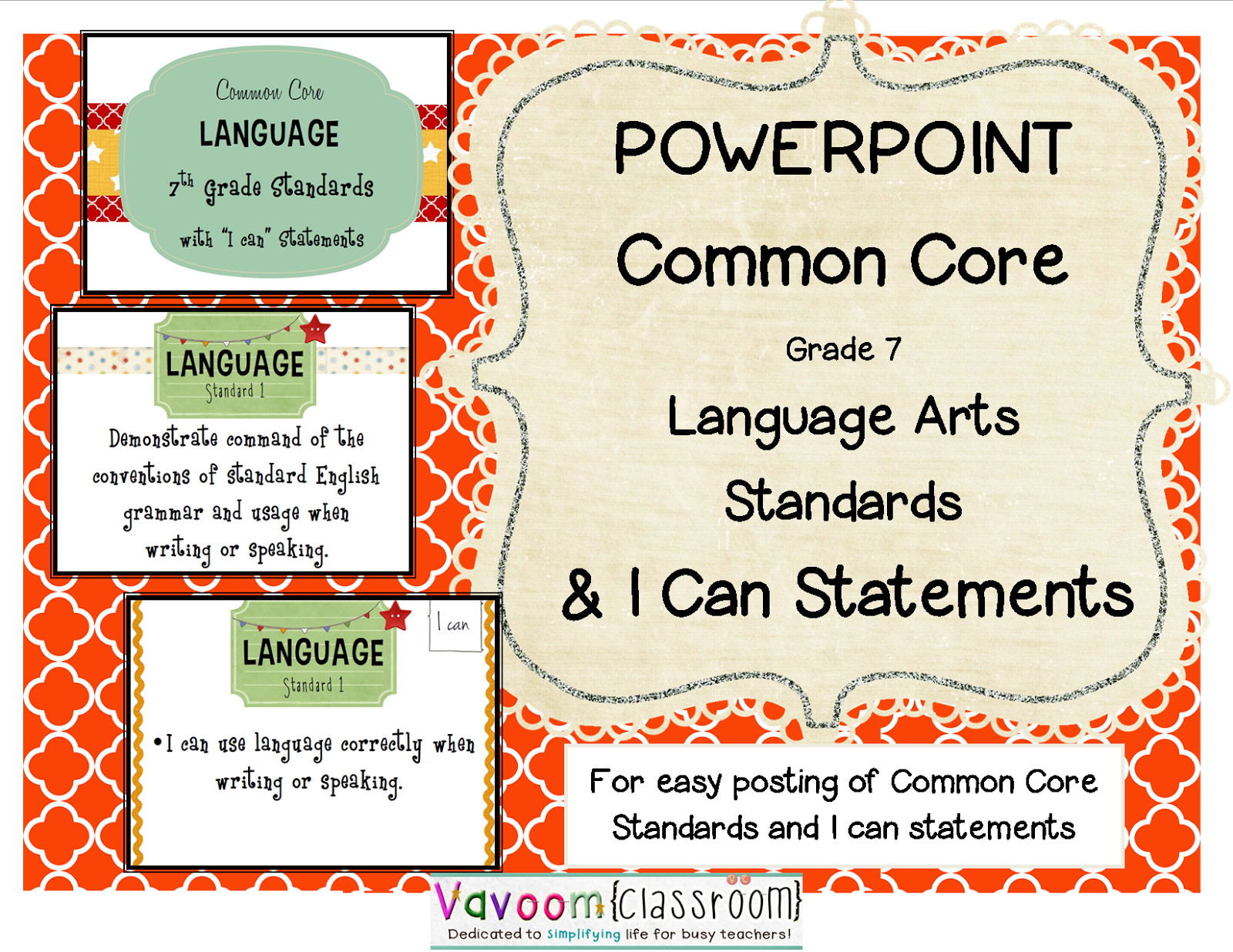 Vavoom Classroom Common Core Standards Amp I Can