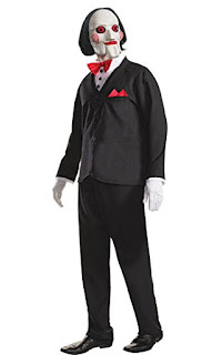 Saw Billy, Halloween Costume, Saw Billy costume, Jigsaw, horror movie character costume, Stephen King Store