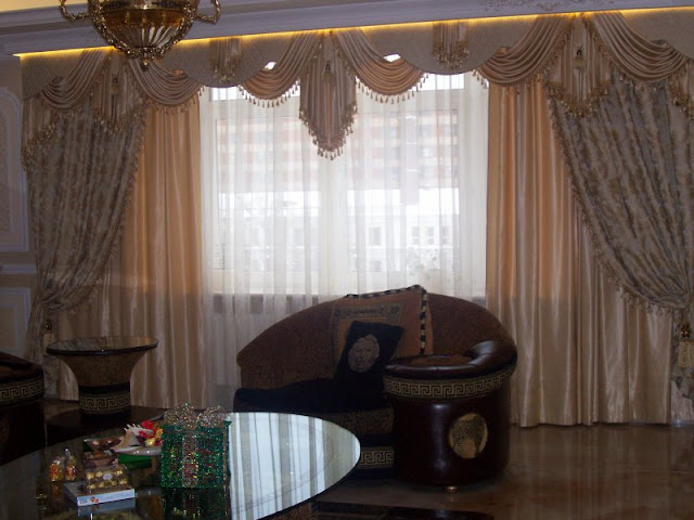 Design and sewing of curtains for the living room