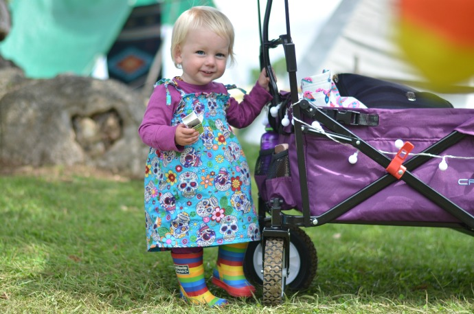 festival camping, camping with children, Wilderness festival, Crotec wagon