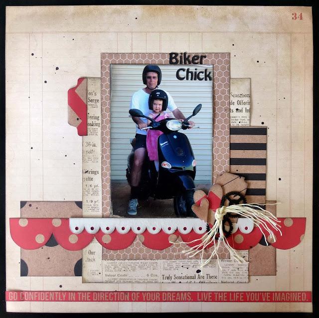 Scrapbooking, Kaisercraft Mix and Match, twine, glimmermist, chipboard