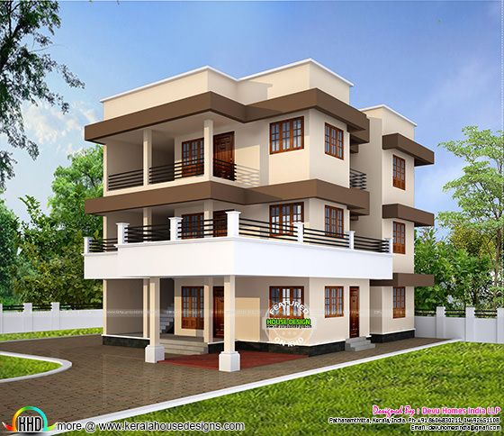 Duplex house in 2240 sq-ft
