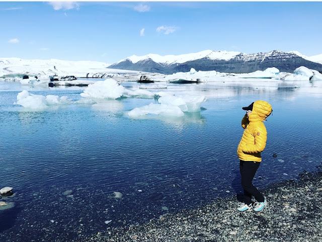 jezioro lodowcowe, lodowiec, Islandia