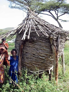 Traditional seed storage bin in Africa. It is estimated that 80% of all seed used by farmers in the tropics is derived from stocks held on-farm from previous seasons.