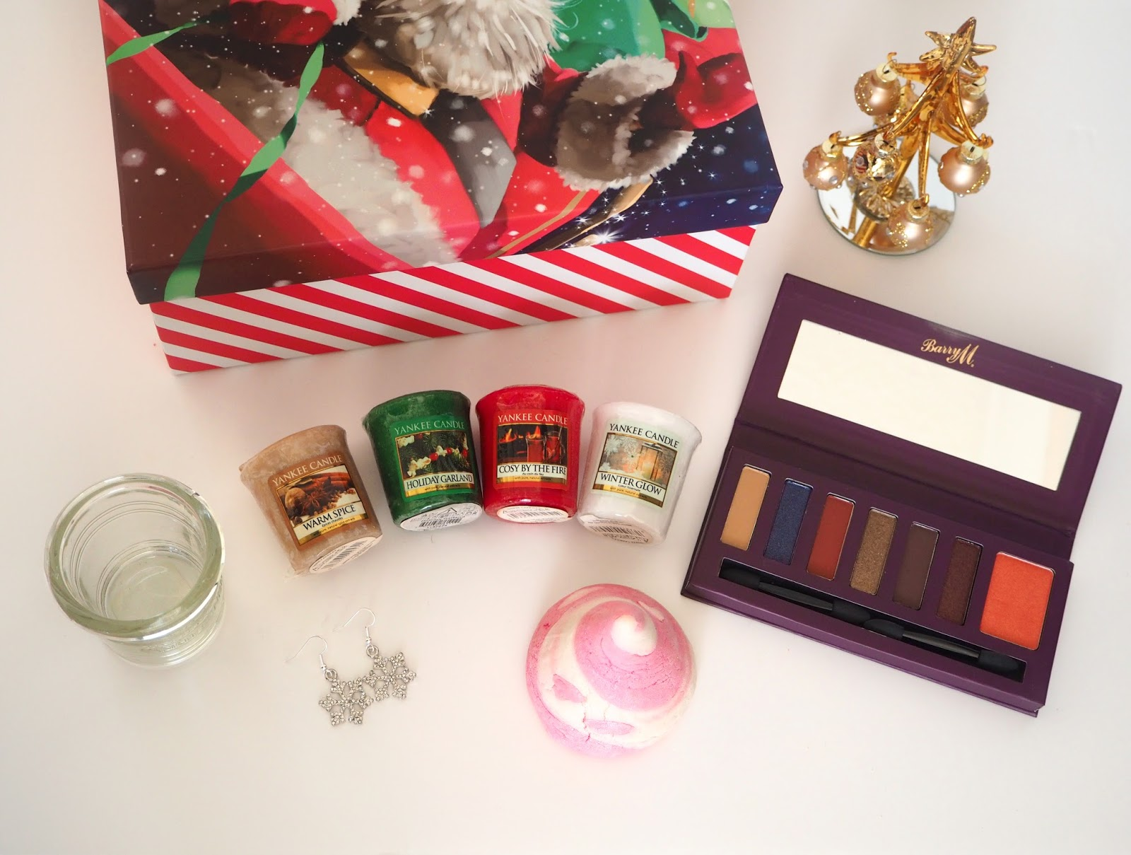 Christmas Gift Bundle Giveaway Katie Kirk Loves, Competition, Prize, Sweepstakes, Giveaway, Beauty, Lush Cosmetics, Candy Mountain, Barry M, My Beaded Treasures Jewellery, Yankee Candles, Candles