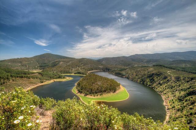 Meandro Melero, marcha al Meandro Melero, pista forestal, Cáceres, Salamanca, Río Alagón, Meandro Melero en HDR