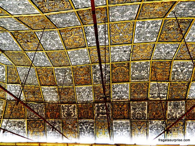 decoração do teto da Sala dos Capelos, no Paço das Escolas da Universidade de Coimbra