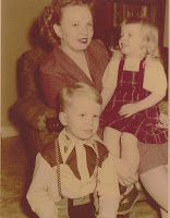 Betty with children, Blair and Donna Turrell