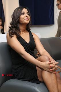 Telugu Actress Kamna Singh Stills in Black Dress at Bharat Thakur Art Exhibition Launch  0165.jpg