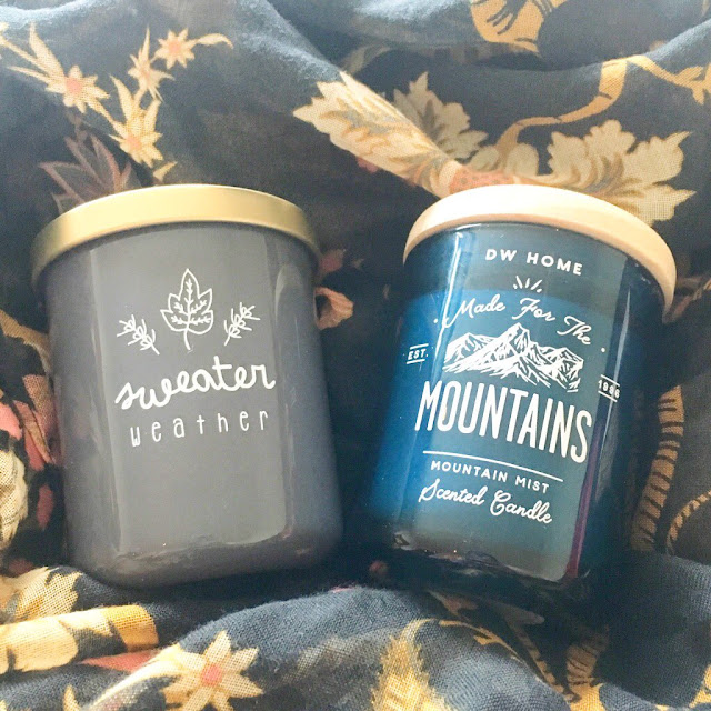 TK Maxx candles - Sweater Weather and Mountains