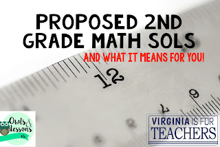Find out the proposed changes to the Virginia SOLs for 2nd Grade math.  The changes won't be implemented until 2018.