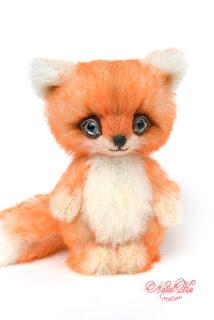 Авторсикй лисенок, лиса тедди, лис тедди, лисица, рыжий лисенок, Fuchs Teddy, Künstlerteddy, Teddys, artist fox, artist teddy fox, teddies, ooak teddy, teddies with charm, NatalKa Creations