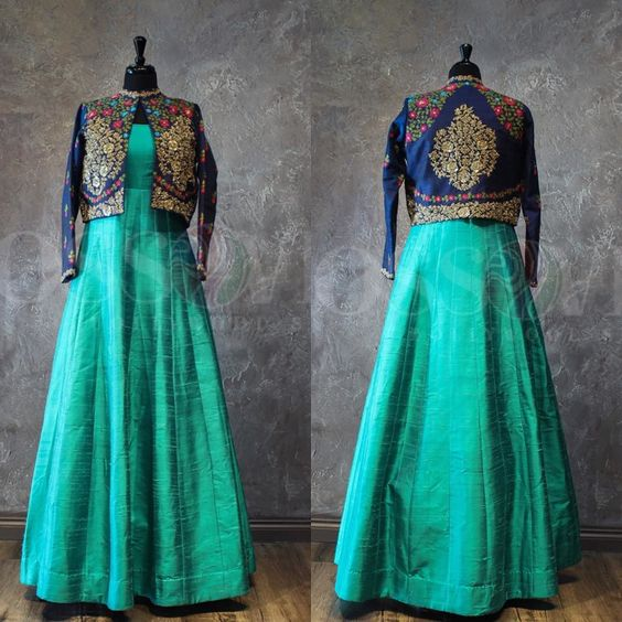Top Anarkali Salwar Trend For Diwali short jacket