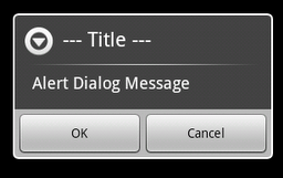 Alert Dialog with OK and Cancel options