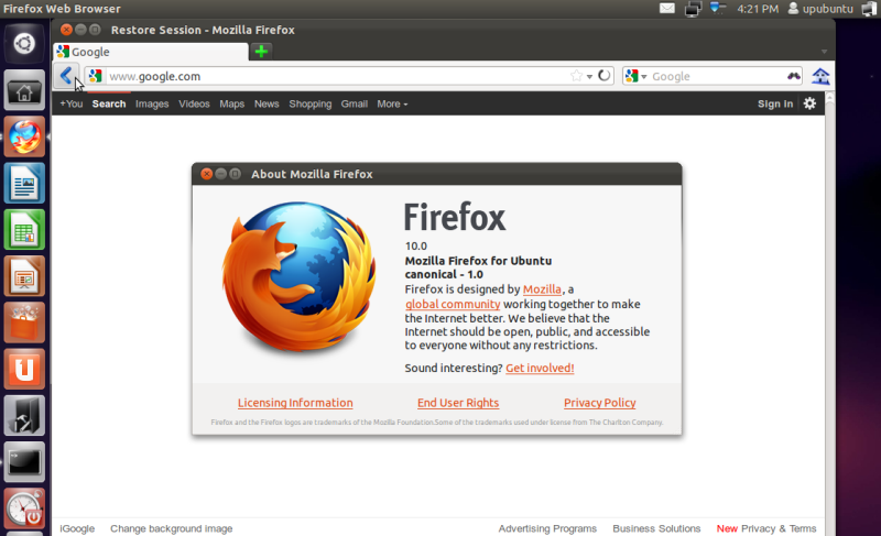 How To Install / Upgrade To Firefox 10 Under Ubuntu (11 10