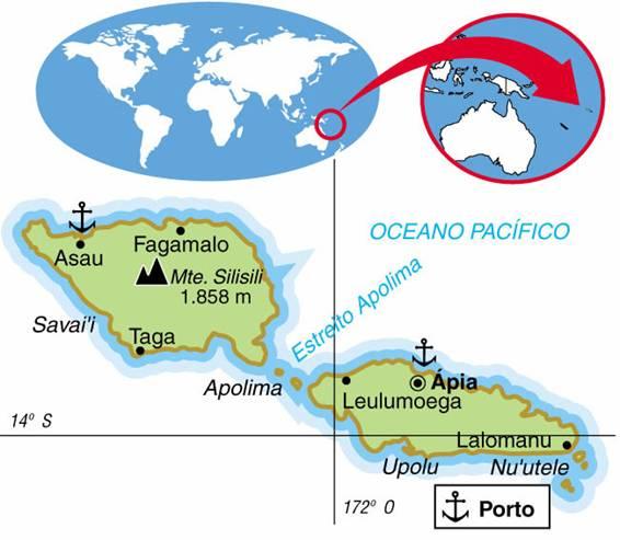 SAMOA - ASPECTOS GEOGRÁFICOS E SOCIAIS DE SAMOA