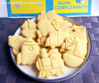 Biscotti semplici di pasta frolla - Biscotti per compleanno bambini