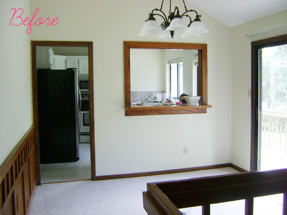 Knocking Down A Wall Between Kitchen And Dining Room