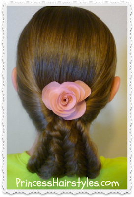 Fishtail braids updo hairstyle tutorial