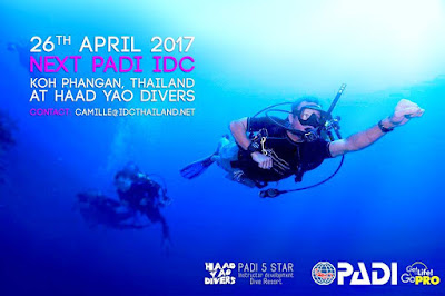 Next PADI IDC on Koh Phangan starts on 26th April 2017