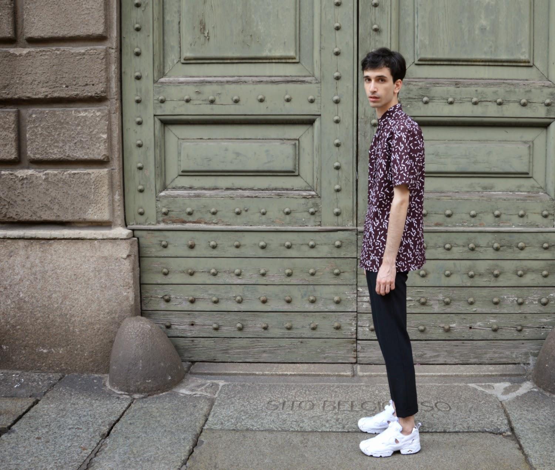 512a90e220c COS X MR PORTER shirt (Here) - Zara pants - Sandro x Reebok classic  sneakers (Here)