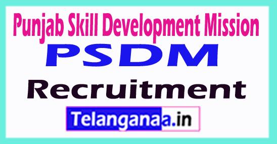 Punjab Skill Development Mission PSDM Recruitment