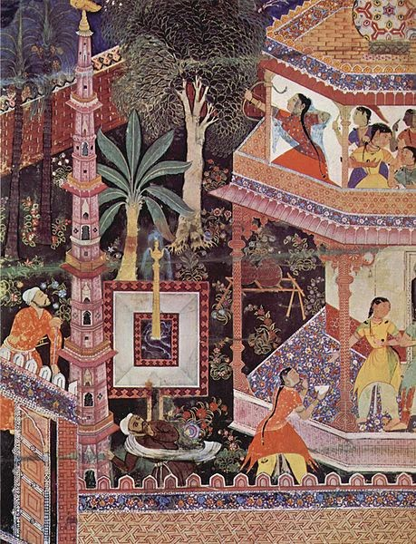Mughal miniature painting from the Hamzanama series, used under creative commons license, Art in Interiors, Art Scene India