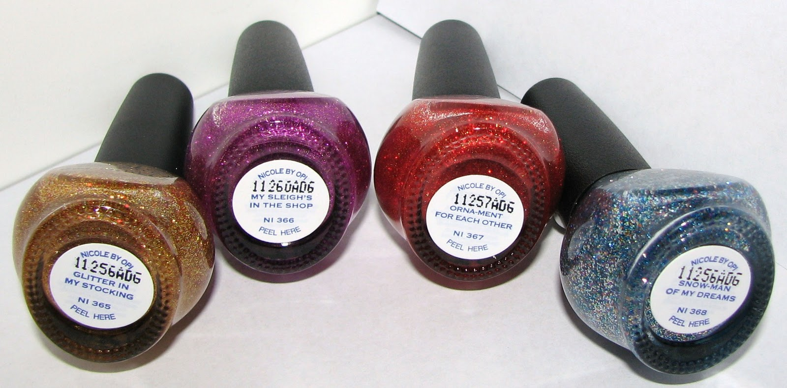 Nicole by OPI Glitter In My Stocking, My Sleigh\'s In The Shop, Orna ...
