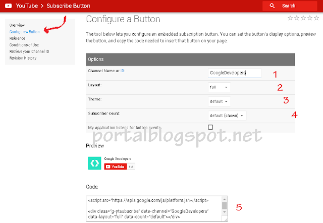 Cara Membuat Youtube Subscribe Button di Blog