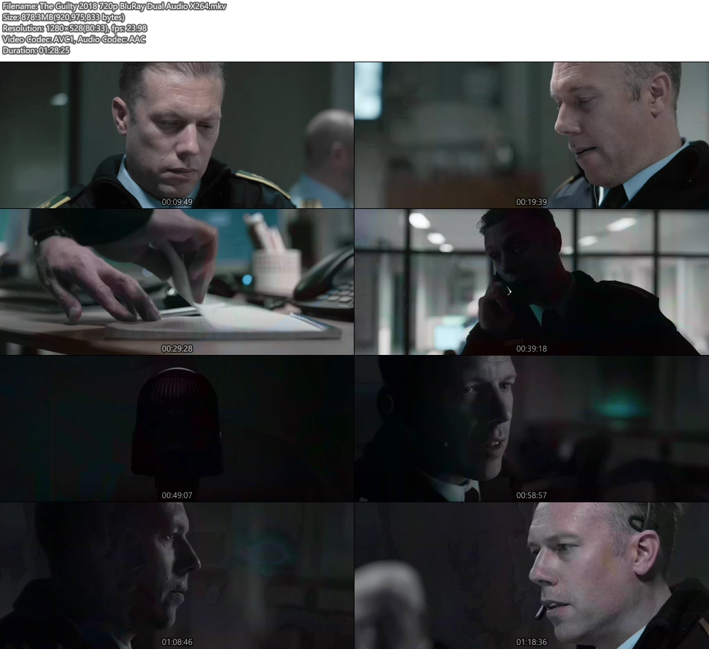 The Guilty 2018 720p BluRay Dual Audio X264 | 480p 300MB | 100MB HEVC Screenshot