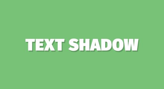 Penerapan Efek Text Shadow dengan CSS3