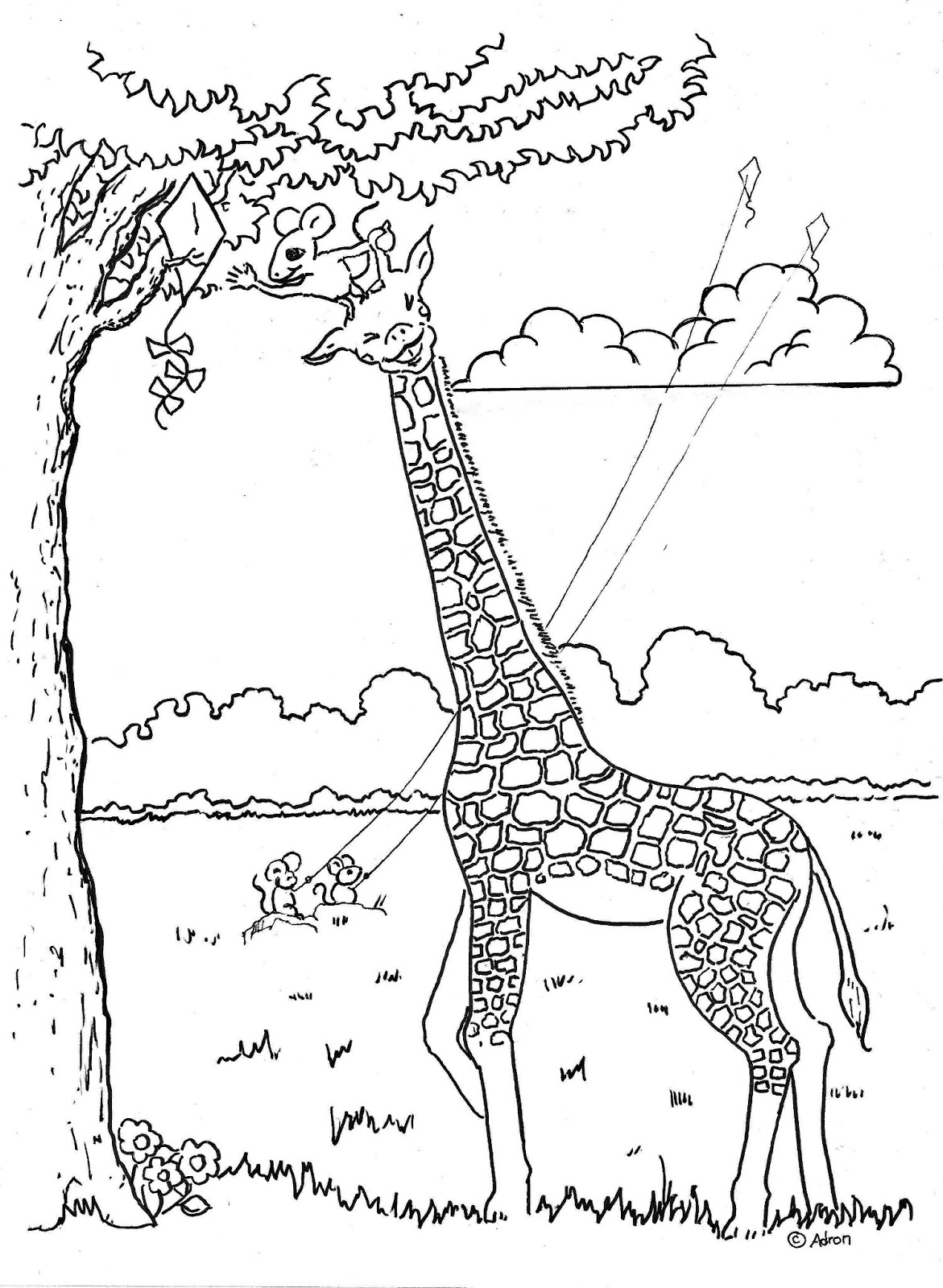 real giraffe coloring pages - photo#18