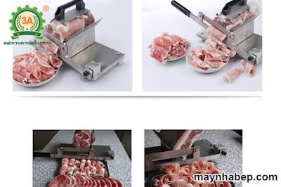 máy thái thịt đông lạnh, máy thái thịt bằng tay